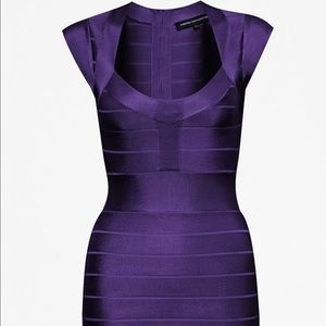 Purple French Connection Bandage Dress